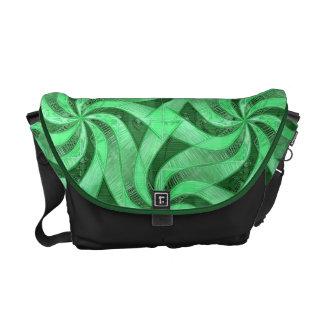 Swirls of Green Messenger Bag