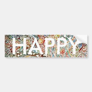 Swirls of Happiness Bumper Sticker