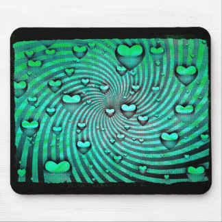 Swirls Of Hearts Mouse Pad