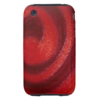 Swirls of nail polish tough iPhone 3 cases