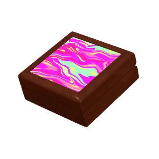 Swirls of Pink, Magenta, Mint Green and Yellow Gift Box