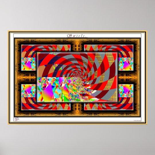 Swirls. Poster