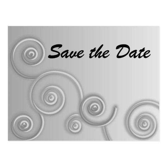 Swirls Save the Date Postcard