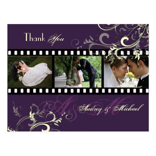 Swirls Wedding Thank you postcards