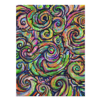 Swirly Abstract Art Poster