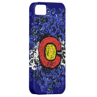 Swirly Abstract Colorado Flag Barely There iPhone 5 Case