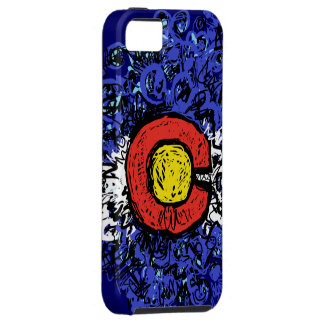 Swirly Abstract Colorado Flag iPhone 5 Cases