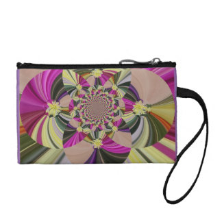 Swirly Abstract Floral Pattern Coin Purse
