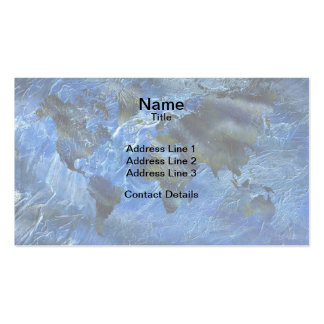 Swirly Acrylic World Map Pack Of Standard Business Cards