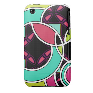 Swirly Afterdark Pop Neon Black iPhone 3/3GS case iPhone 3 Case-Mate Case