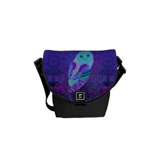 Swirly Barn Owl Commuter Bag