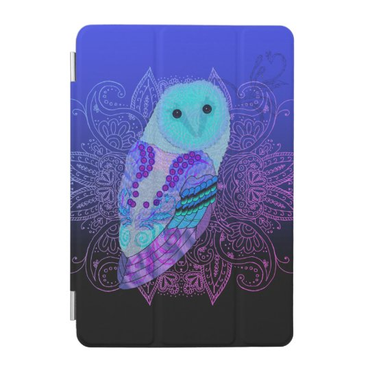 Swirly Barn Owl iPad Mini Cover