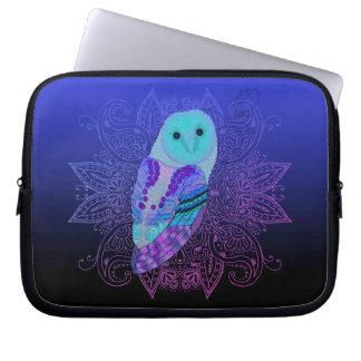 Swirly Barn Owl Laptop Sleeve