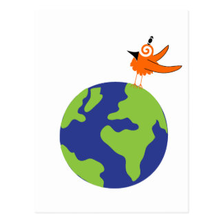 Swirly Bird Saves the World for Sustainable Earth Postcard