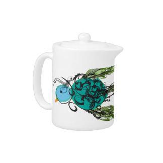 Swirly Bird Teapot