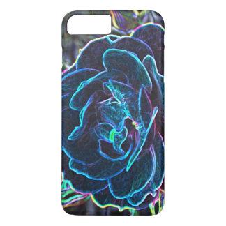 Swirly Blue Neon Rose iPhone 8 Plus/7 Plus Case