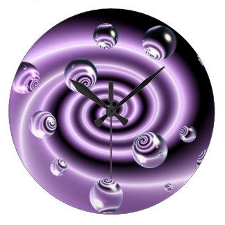 Swirly Bubbles Wall Clock