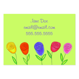 Swirly Buds Calling Card Business Cards