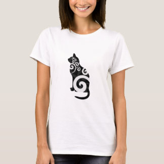 Swirly Cat Black T-Shirt