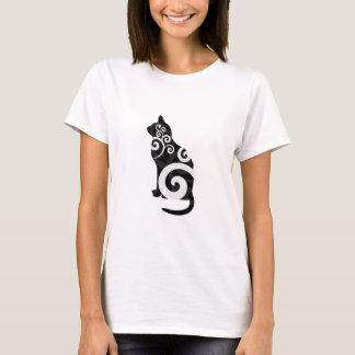 Swirly Cat Black T-Shirt