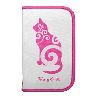 Swirly Cat Pink Custom Name Planners
