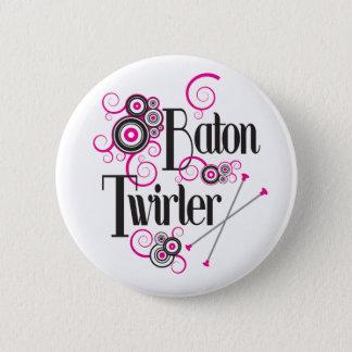 Swirly Circle Baton Twirler 6 Cm Round Badge