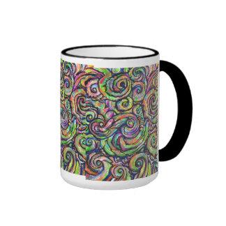 Swirly Designs Mug- Looks Great Ringer Mug