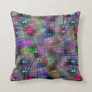 Swirly Disco Throw Pillow