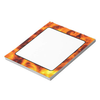 Swirly Flames Notepad