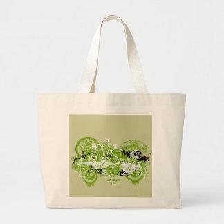 Swirly Flower Design Jumbo Tote Bag