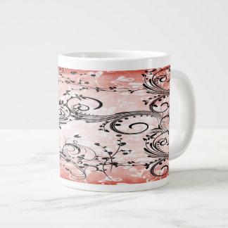 Swirly Flower Vines Specialty Mugs Jumbo Mug
