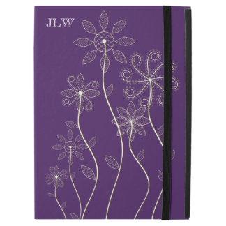 Swirly Flowers iPad Pro Case with No Kickstand