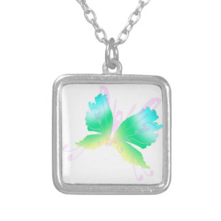 Swirly Fly III Silver Plated Necklace