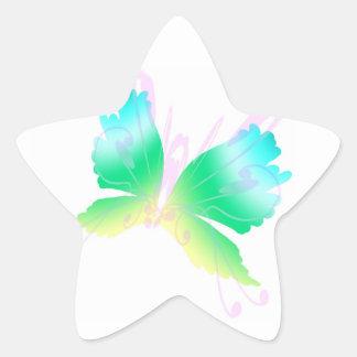 Swirly Fly III Star Sticker
