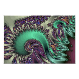 Swirly fractal poster