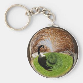 Swirly Goose Keychain