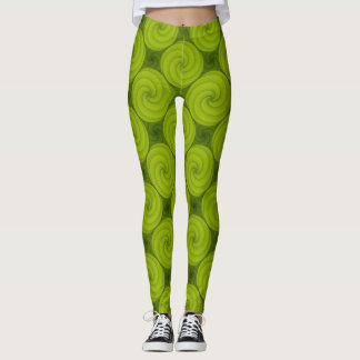 Swirly Green Pattern Leggings