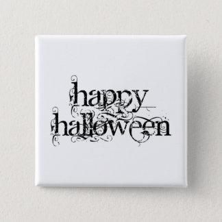 Swirly Grunge Happy Halloween 15 Cm Square Badge