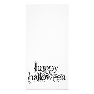 Swirly Grunge Happy Halloween Card