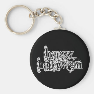 Swirly Grunge Happy Halloween Keychain