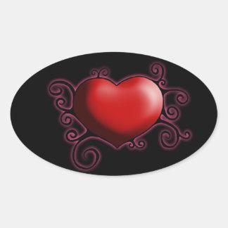 Swirly Heart Sticker
