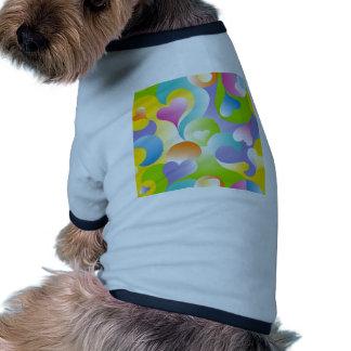 Swirly Hearts Pet Tshirt