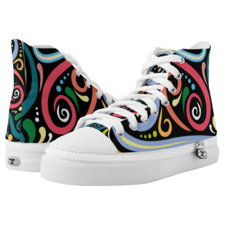 SWIRLY KALEIDOSCOPE CAT SHOES