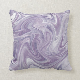 Swirly Lavender Abstract Throw Pillow