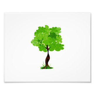 Swirly leaves green eco tree design.png photo art