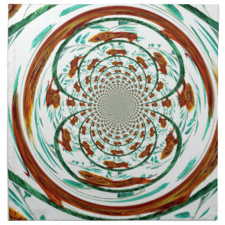 Swirly Lions Abstract Wildlife Pattern Napkin