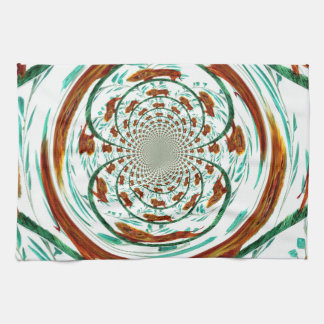 Swirly Lions Abstract Wildlife Pattern Tea Towel