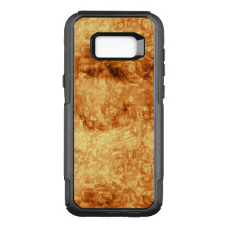 Swirly Liquid Gold Pattern With Little Daisies OtterBox Commuter Samsung Galaxy S8+ Case