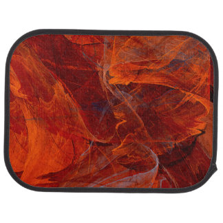 Swirly Love in Deep Red Car Mat