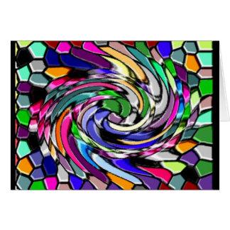 Swirly Mosaic Greeting Card